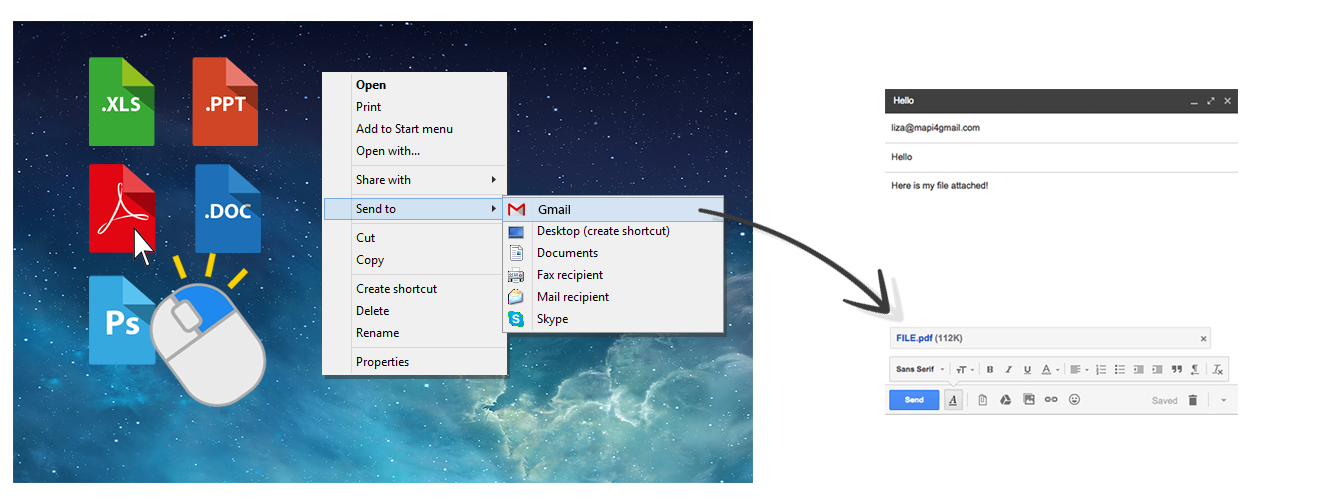 Screenshot of Mapi for Gmail® 3.0